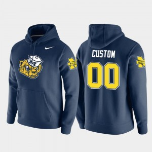 #00 Vault Logo Club Michigan Wolverines Pullover Navy College Customized Hoodie For Men