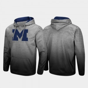 Pullover Sitwell Sublimated Heathered Gray Michigan College Hoodie Mens