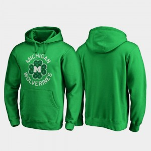 Men's Luck Tradition Michigan Kelly Green College Hoodie St. Patrick's Day