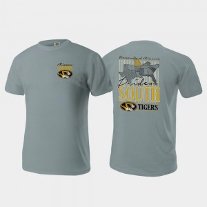 Missouri Comfort Colors Gray Pride of the South Mens College T-Shirt
