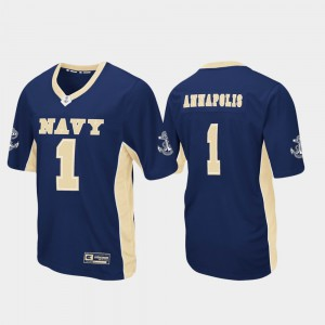 Football #1 Navy For Men's College Jersey Navy Max Power