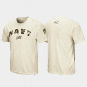Oatmeal Men College T-Shirt United States Naval Academy OHT Military Appreciation Desert Camo
