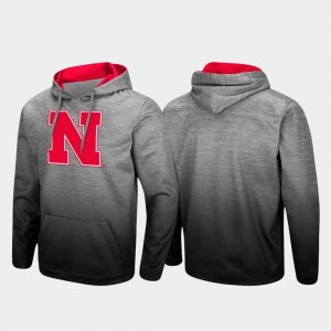 Heathered Gray Cornhuskers Men's Sitwell Sublimated Pullover College Hoodie