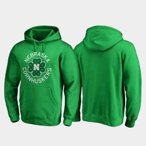 St. Patrick's Day Kelly Green Nebraska Cornhuskers Luck Tradition For Men College Hoodie
