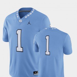 Carolina Blue UNC For Men's Football 2018 Game College Jersey #1