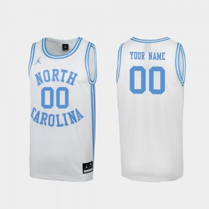 UNC For Men March Madness College Custom Jerseys White #00 Special Basketball