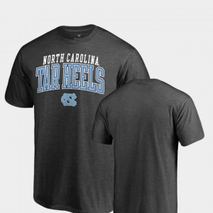 UNC Tar Heels Square Up Heathered Charcoal College T-Shirt Men