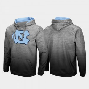 Heathered Gray Pullover North Carolina Tar Heels Men's College Hoodie Sitwell Sublimated