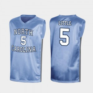 UNC Tar Heels #5 Nassir Little College Jersey Mens Royal Special Basketball March Madness