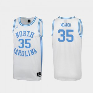 UNC Tar Heels Special Basketball White #35 March Madness Men Ryan McAdoo College Jersey