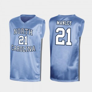 University of North Carolina Sterling Manley College Jersey Mens #21 Royal March Madness Special Basketball