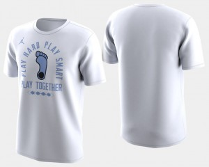Basketball Tournament For Men College T-Shirt March Madness Bench White University of North Carolina