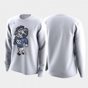 Family on Court University of North Carolina For Men's March Madness Legend Basketball Long Sleeve College T-Shirt White