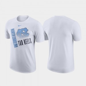 For Men UNC Tar Heels Performance Cotton College T-Shirt Just Do It White