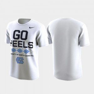 For Men's Performance Local Verbiage College T-Shirt White North Carolina Tar Heels