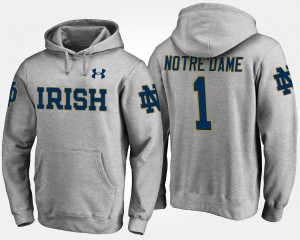 No.1 University of Notre Dame #1 Gray College Hoodie For Men