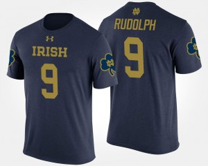 Navy ND Kyle Rudolph College T-Shirt Mens #9