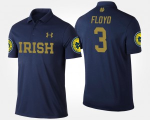 #3 Michael Floyd College Polo Mens University of Notre Dame Navy
