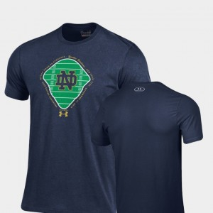 Irish Navy For Men's College T-Shirt 2018 Shamrock Series Field Charged Cotton