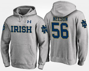 #56 ND Gray Mens Quenton Nelson College Hoodie