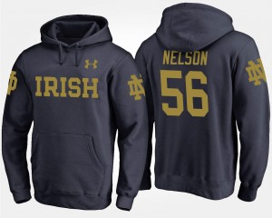 Navy ND Mens Quenton Nelson College Hoodie #56