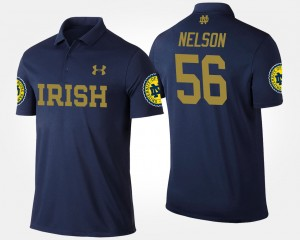 Quenton Nelson College Polo For Men's Navy Fighting Irish #56