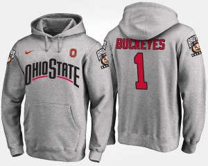 Ohio State No.1 #1 College Hoodie For Men's Gray