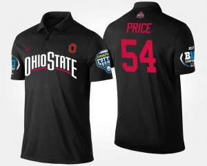 Buckeyes Bowl Game #54 Billy Price College Polo Men Big Ten Conference Cotton Bowl Black