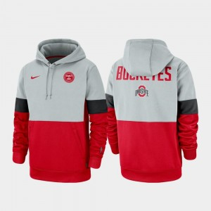 College Hoodie Therma Performance Pullover Men's Gray Scarlet Rivalry Ohio State