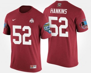 Big Ten Conference Cotton Bowl Bowl Game For Men Scarlet Ohio State Johnathan Hankins College T-Shirt #52