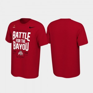 2019 Football Playoff Bound For Men's Battle For The Bayou College T-Shirt Scarlet Buckeyes