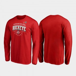 Scarlet Men's OSU 2019 Fiesta Bowl Bound Primary Tackle Long Sleeve College T-Shirt