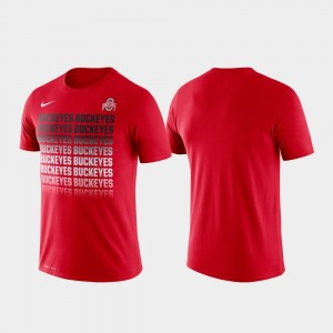 Performance Ohio State Scarlet For Men Fade College T-Shirt