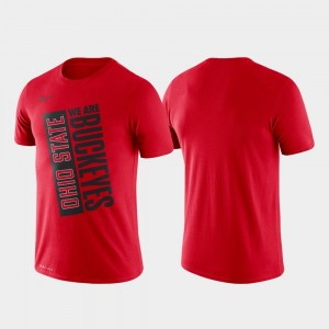 Scarlet Basketball Performance Just Do It Ohio State College T-Shirt For Men
