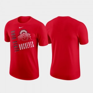 Just Do It College T-Shirt Ohio State Buckeyes Men Scarlet Performance Cotton