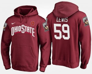 #59 Scarlet Ohio State Tyquan Lewis College Hoodie For Men's