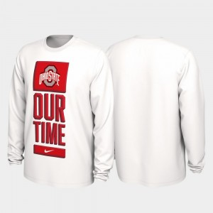 College T-Shirt Our Time Bench Legend For Men's White 2020 March Madness Buckeyes