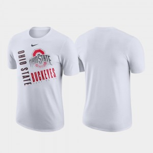 College T-Shirt Ohio State Buckeyes Men's White Performance Cotton Just Do It