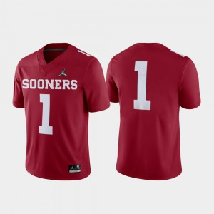 #1 2018 Football Playoff OU Sooners Game Crimson College Jersey For Men's