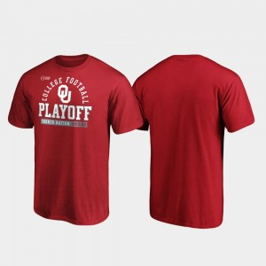 College T-Shirt Crimson 2019 Football Playoff Bound OU Sooners For Men Safety