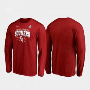 Crimson Primary Tackle Long Sleeve Men's 2019 Peach Bowl Bound OU Sooners College T-Shirt