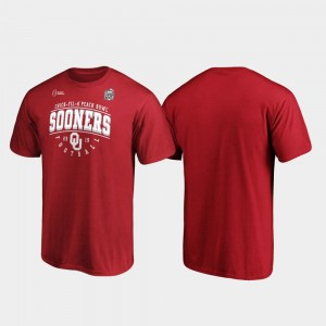 College T-Shirt For Men 2019 Peach Bowl Bound Crimson Primary Tackle Oklahoma