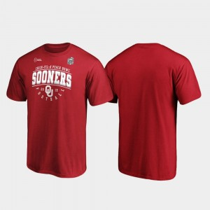 Crimson Tackle 2019 Peach Bowl Bound College T-Shirt Sooners For Men's