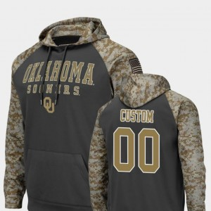 Charcoal United We Stand For Men's College Custom Hoodie OU Sooners #00 Colosseum Football