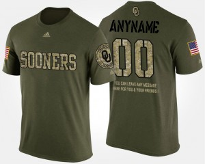 #00 College Custom T-Shirt Camo For Men Military Oklahoma Sooners Short Sleeve With Message