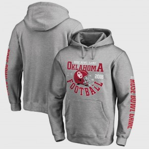 Football Playoff 2018 Rose Bowl Bound Down OU Sooners Gray College Hoodie Bowl Game Men's