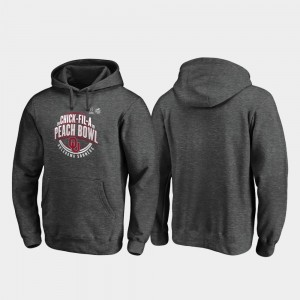 For Men's Heather Gray Scrimmage College Hoodie University Of Oklahoma 2019 Peach Bowl Bound