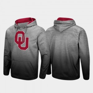 Sooner College Hoodie Pullover Men Heathered Gray Sitwell Sublimated
