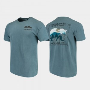 Ole Miss Rebels Men's Blue College T-Shirt State Scenery Comfort Colors