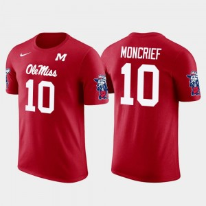 Future Stars Men #10 Jacksonville Jaguars Football Donte Moncrief College T-Shirt Red Ole Miss